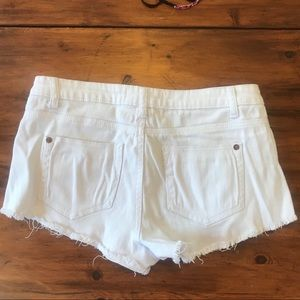 Cotton On Shorts - Low Rise Distressed White Jean Shorts